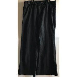 Banana Republic wide leg linen/cotton blend black